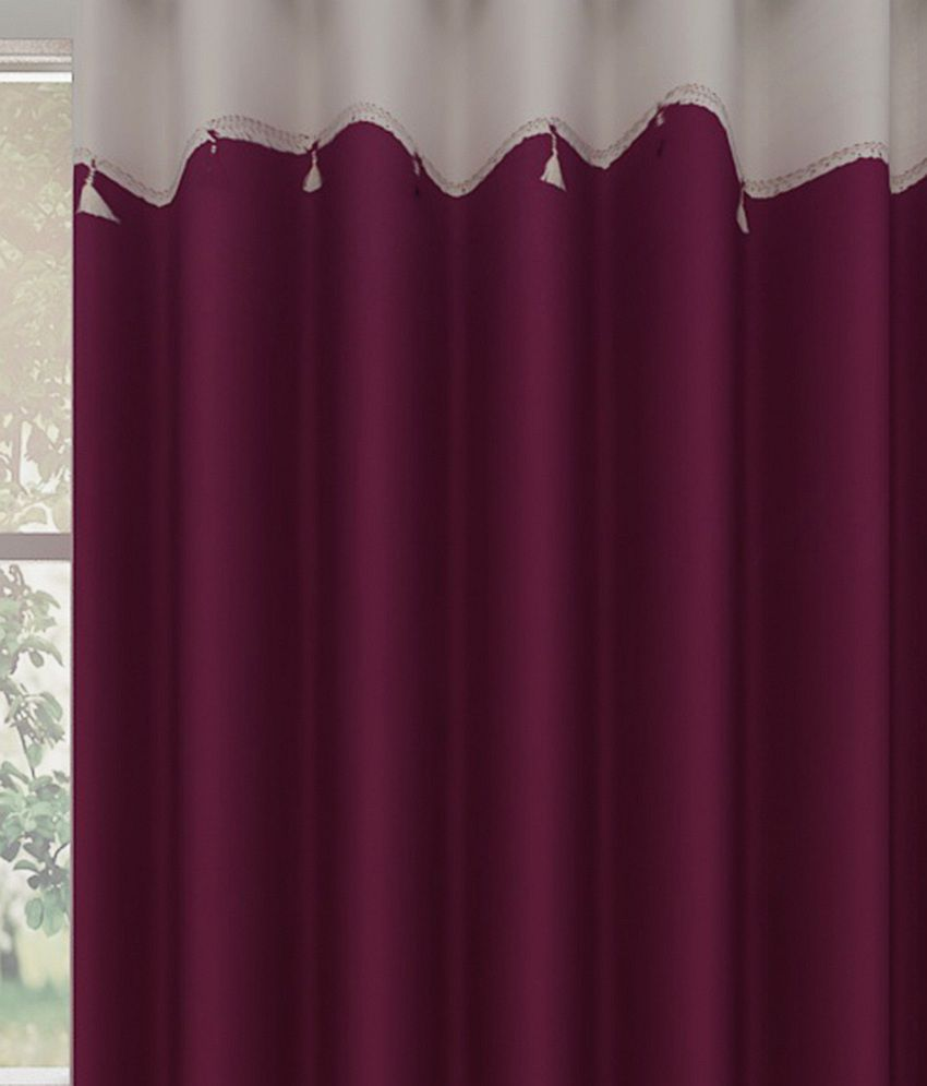 800 x 800 183 72 kb 183 jpeg bedrooms with gold curtains -  Homefab India Single Window Eyelet Curtain Solid Purple