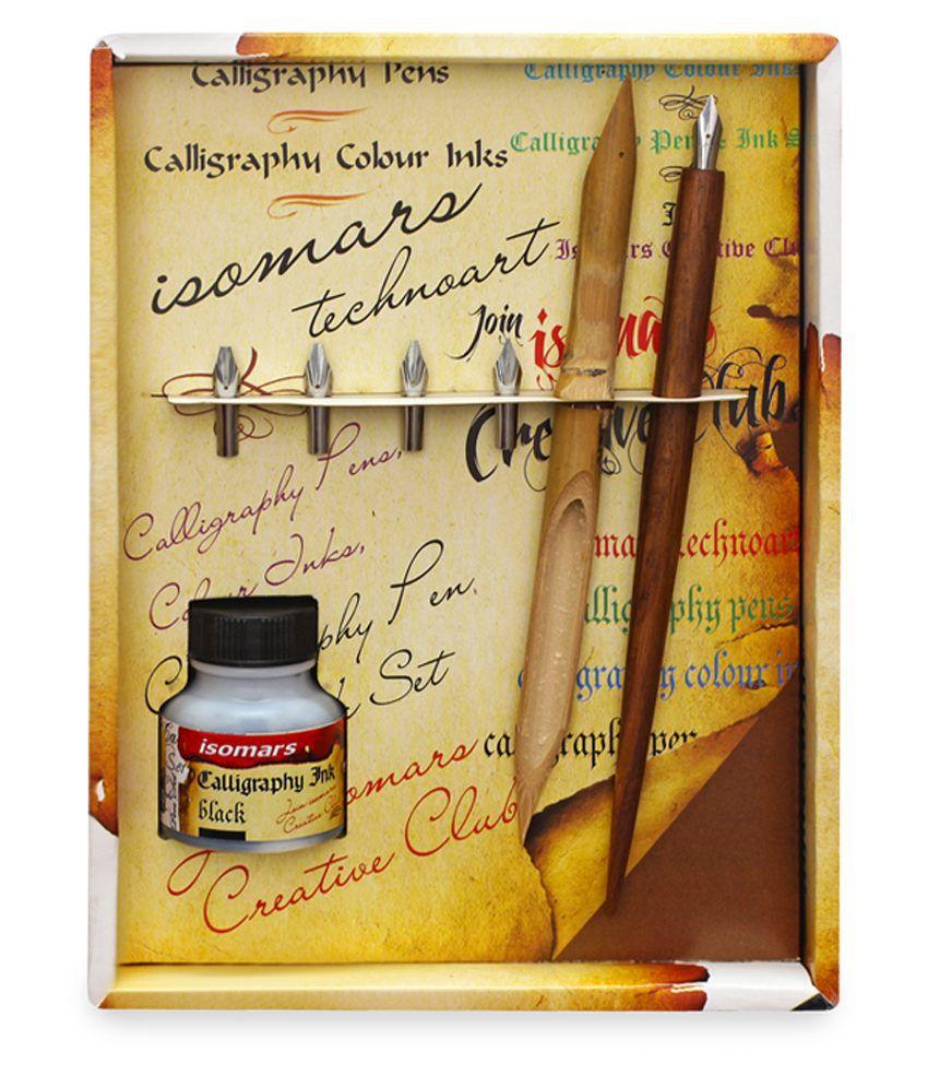 Asint Isomars Calligraphy Pen Set Wood Art No Cp300