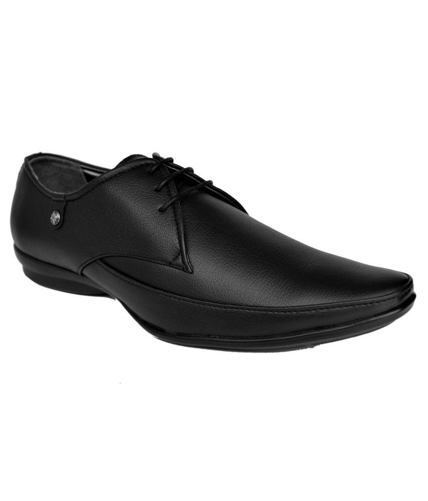 M & M Black Formal Shoes