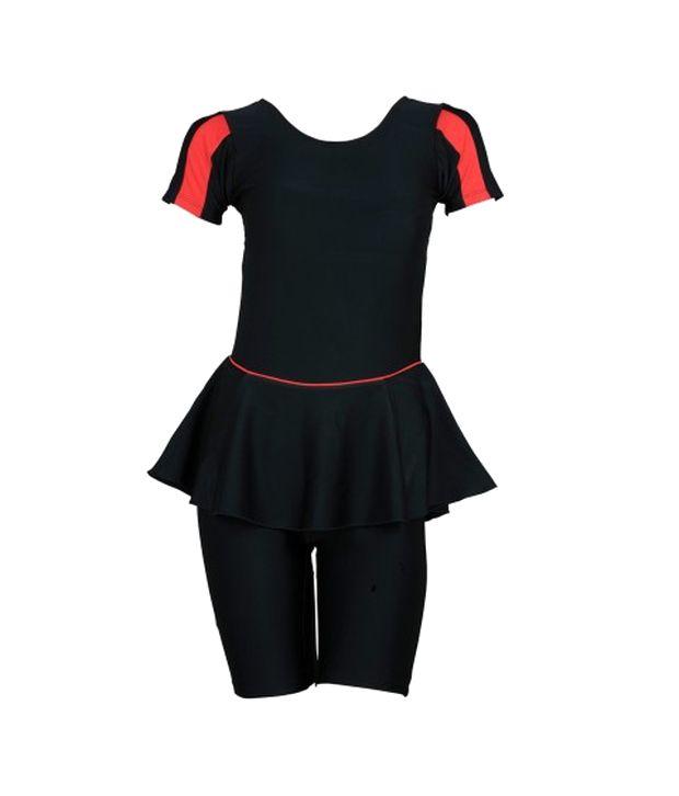 Champ Black Padded Swimwear With Knee Length Shorts/ Swimming Costume