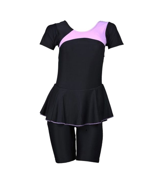 Champ Black Padded Swimwear With Knee Length Shorts/ Swimming Costume