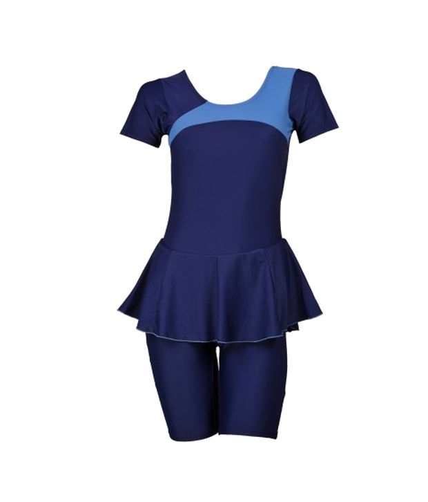 Champ Blue Padded Swimwear With Knee Length Shorts/ Swimming Costume