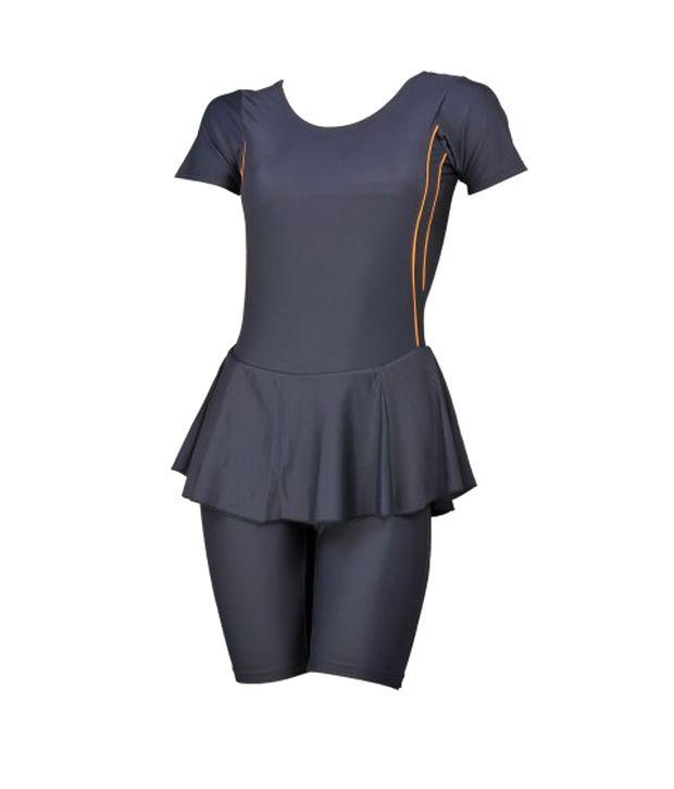 Champ Grey Padded Swimwear With Knee Length Shorts/ Swimming Costume