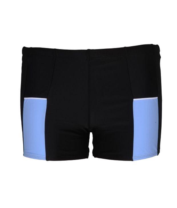 Champ Men Black Swimwear - Trunks/ Swimming Costume