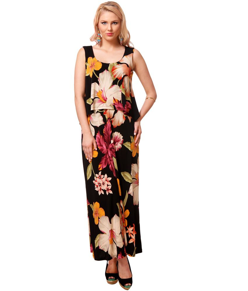 Fuegobella Party Wearing Multi Color Sleeveless Floral Dress