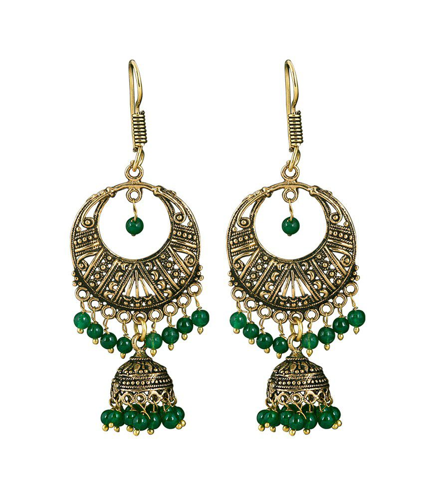 Kaizer High Quality German Silver Jhumki Earring -DS-09