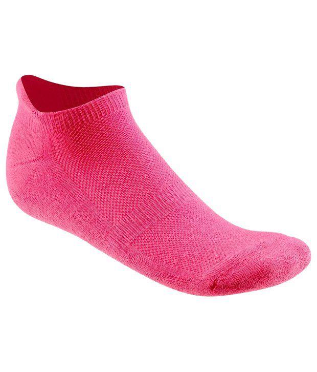 Domyos Pink Ankle Length Socks for Women