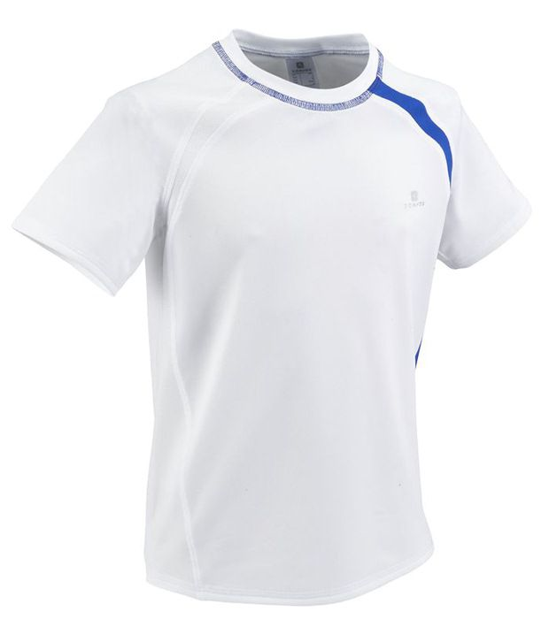 Domyos White Breathable Fitness T Shirt for Boys