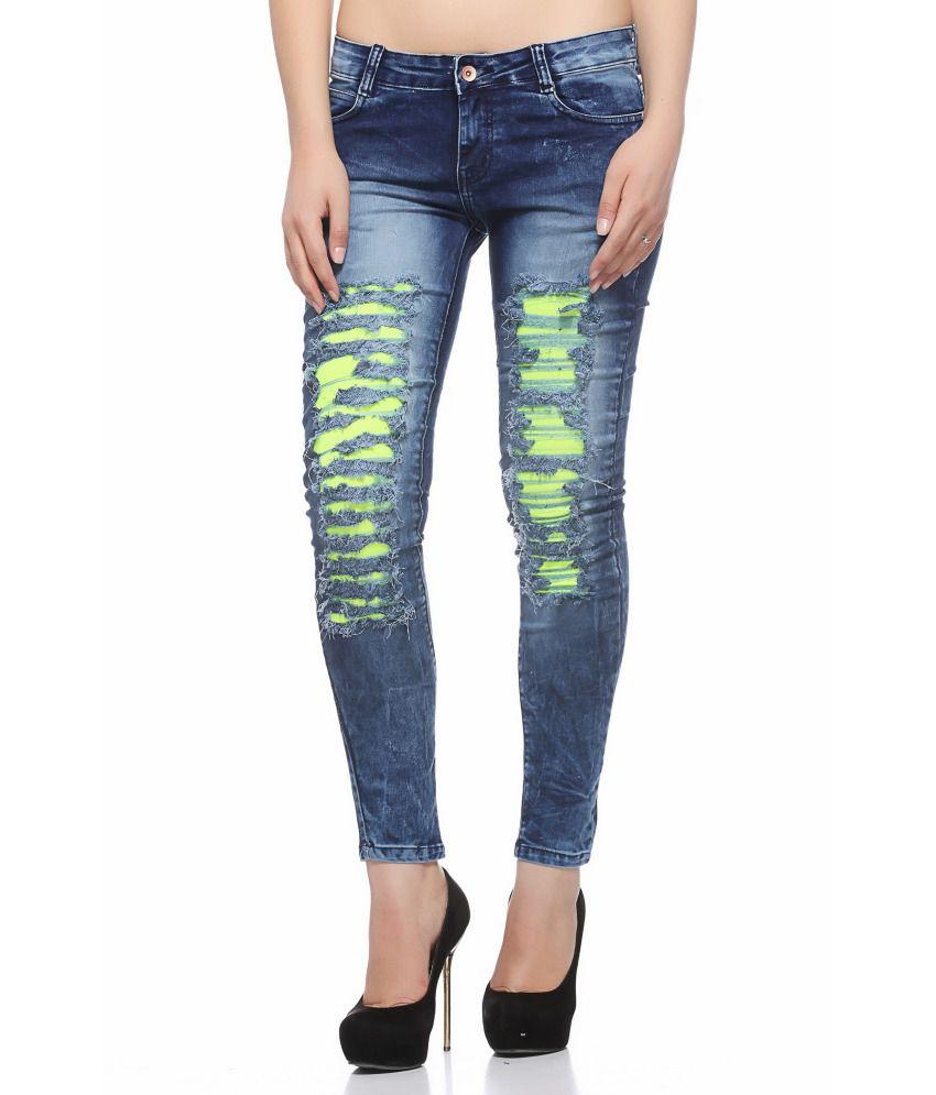 Fasnoya Lamee Blue Denim Lycra Jeans