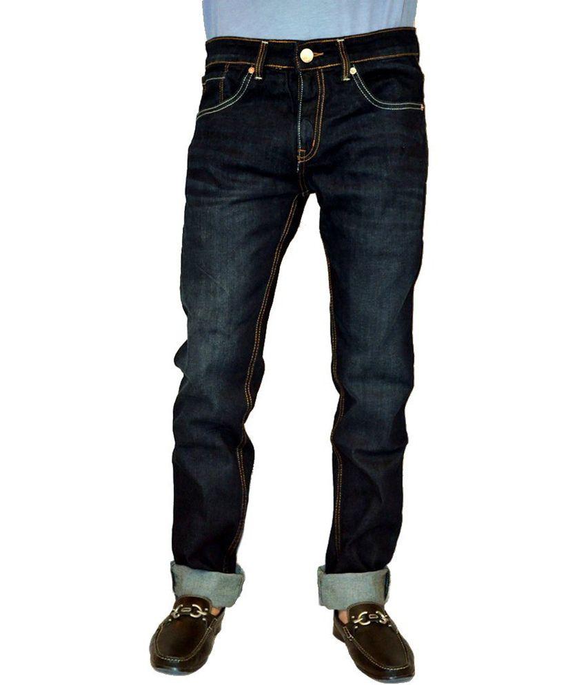 Levis Blue Cotton Faded Jeans