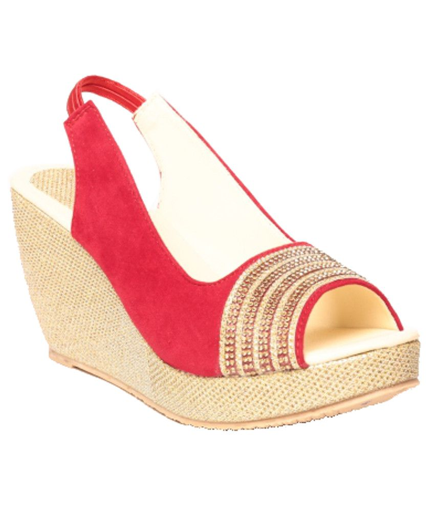 Anand Archies Classy Red Heeled Sandals
