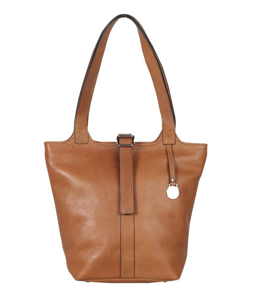 Hunt Tan Leather Shoulder Bag