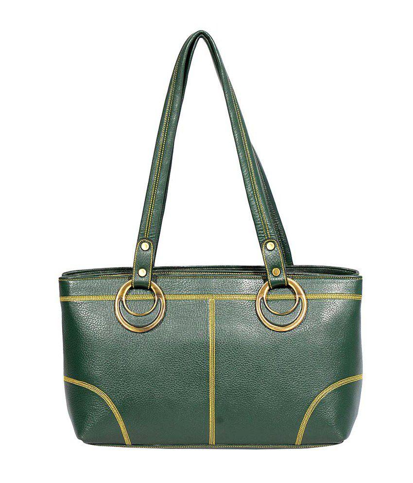 J Blues Green Leather Shoulder Bag