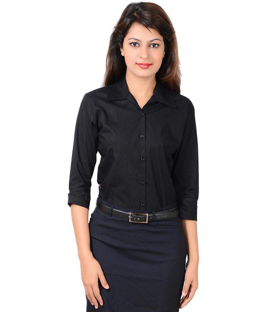 LGC Black Office Wear Formal Shirt