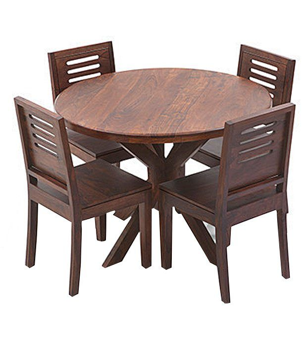 ethnic india art solid wood 4 seater dining set buy