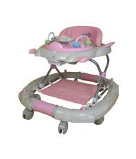 Baby Mix Baby Walker cum Rocker BW02 - Pink with Blue