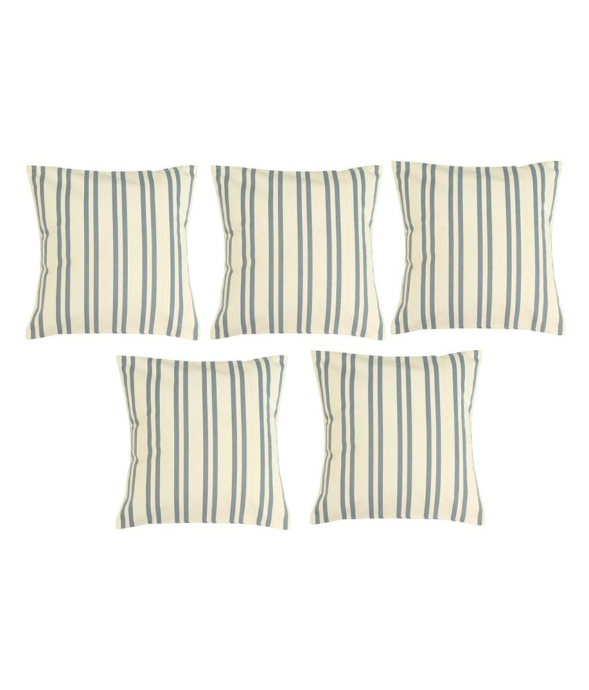 Homec Trendy 100% Cotton Cushion Cover Set of 5 - Blue