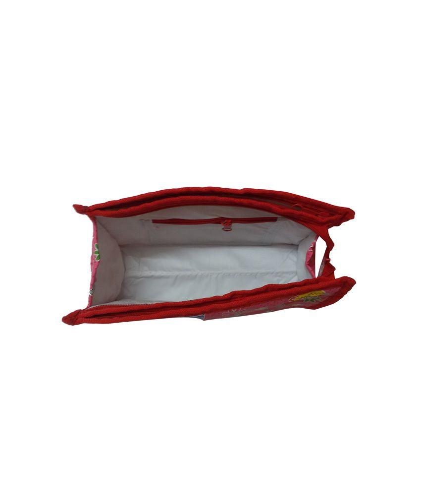 KitsandPouches Pink Plastic And Tissue Best Friend Travel Kit Regular