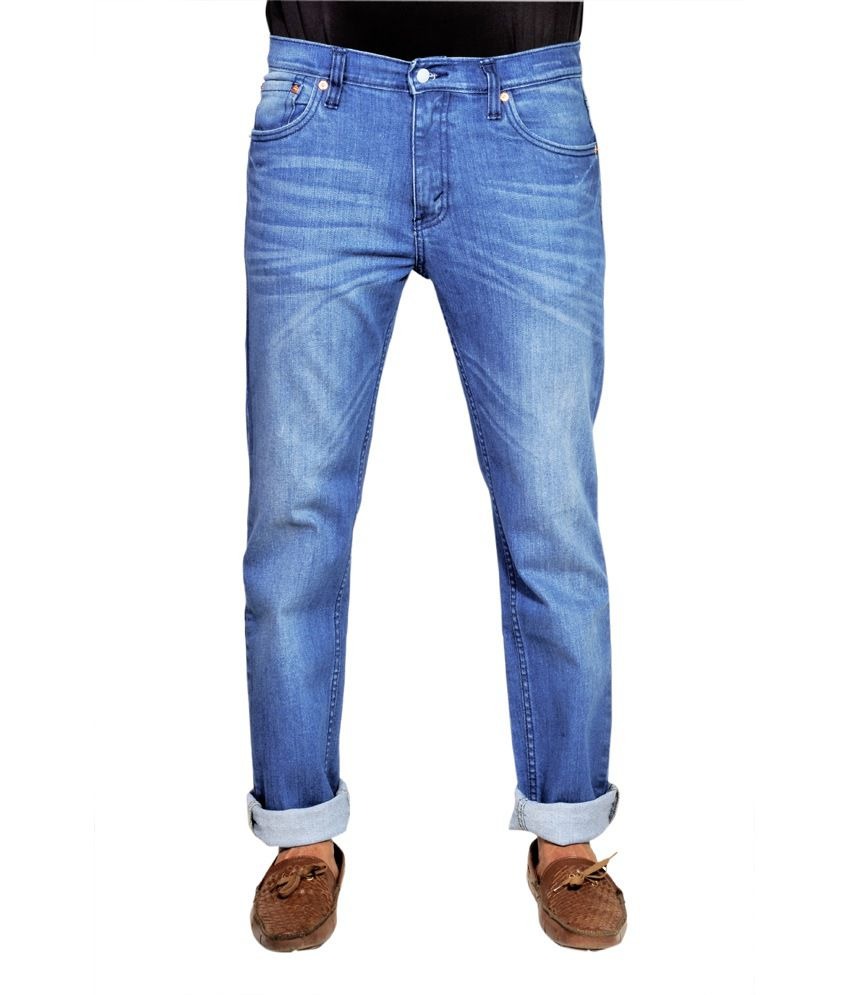 Levis 511 Slim Fit Blue Cotton Jeans