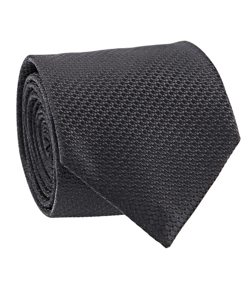 MxMilanoX'Xssories Black Zig Zag Premium Men Tie