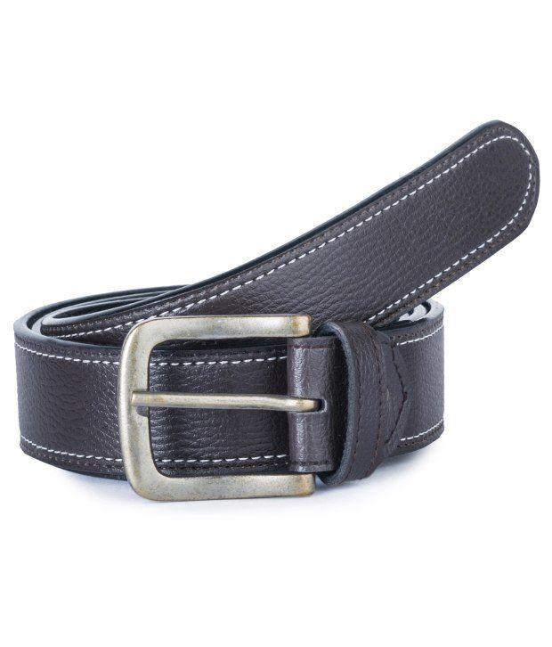 Stylox Black Leather Belt