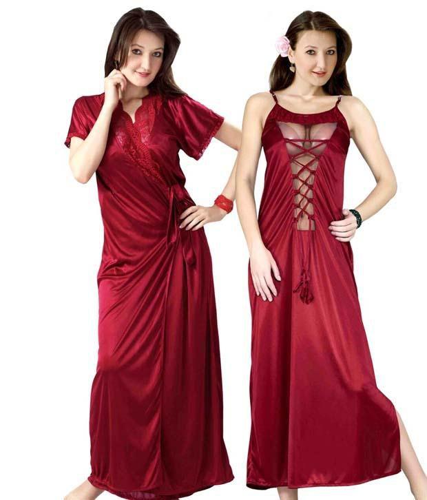 5ac281f24cc Hot N Sweet Pink Satin Nighty Price in India | Buy Hot N Sweet Pink ...
