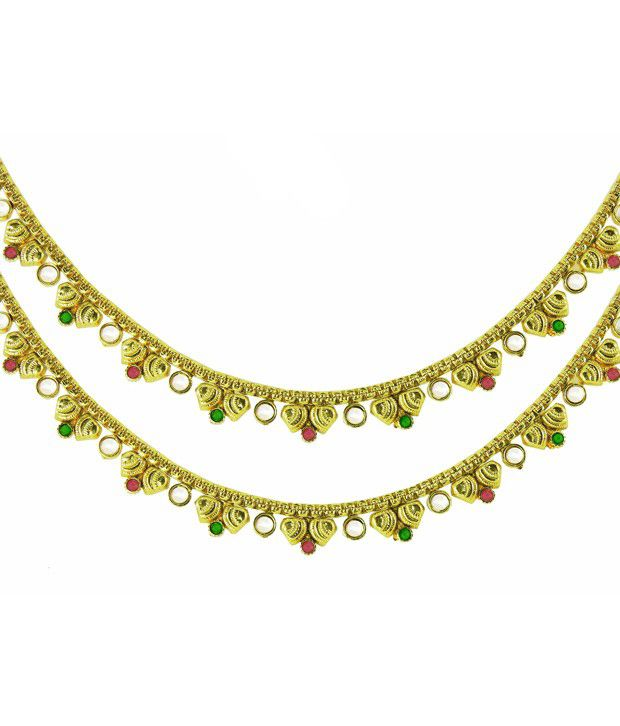 Ambica Jewellers Gold Bridal Anklet