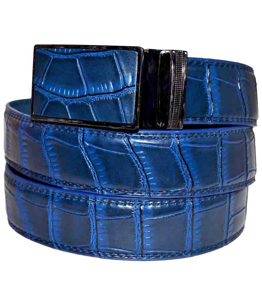 Banjara Blue Leather Belt