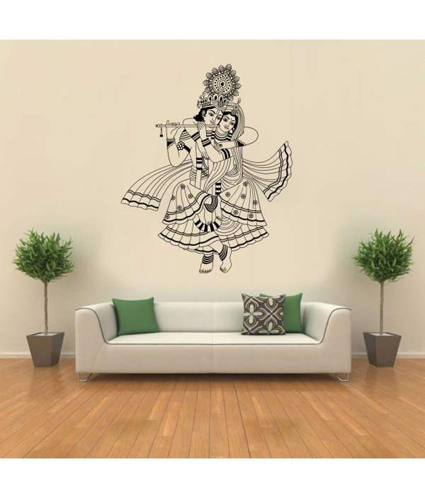 c0d2e12e476 Hoopoe Decor Lord Krishna Wall Sticker - Buy Hoopoe Decor Lord Krishna Wall  Sticker Online at Best Prices in India on Snapdeal