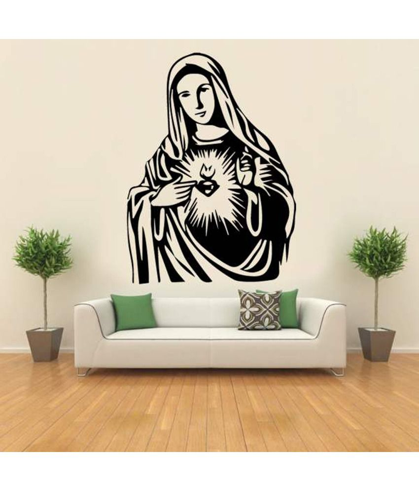 Hoopoe decor mother mary 2 wall sticker buy hoopoe decor for Snapdeal products home kitchen decorations