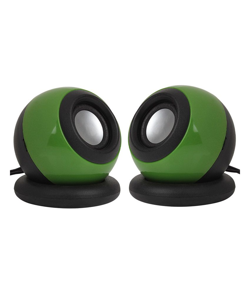 Soroo Usb Speakers 2 Computer Speakers Green