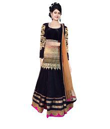 da1f0b5e68 Quick View. Indian Designer Multi Color Net Embroidered Semi Stitched  Lehenga