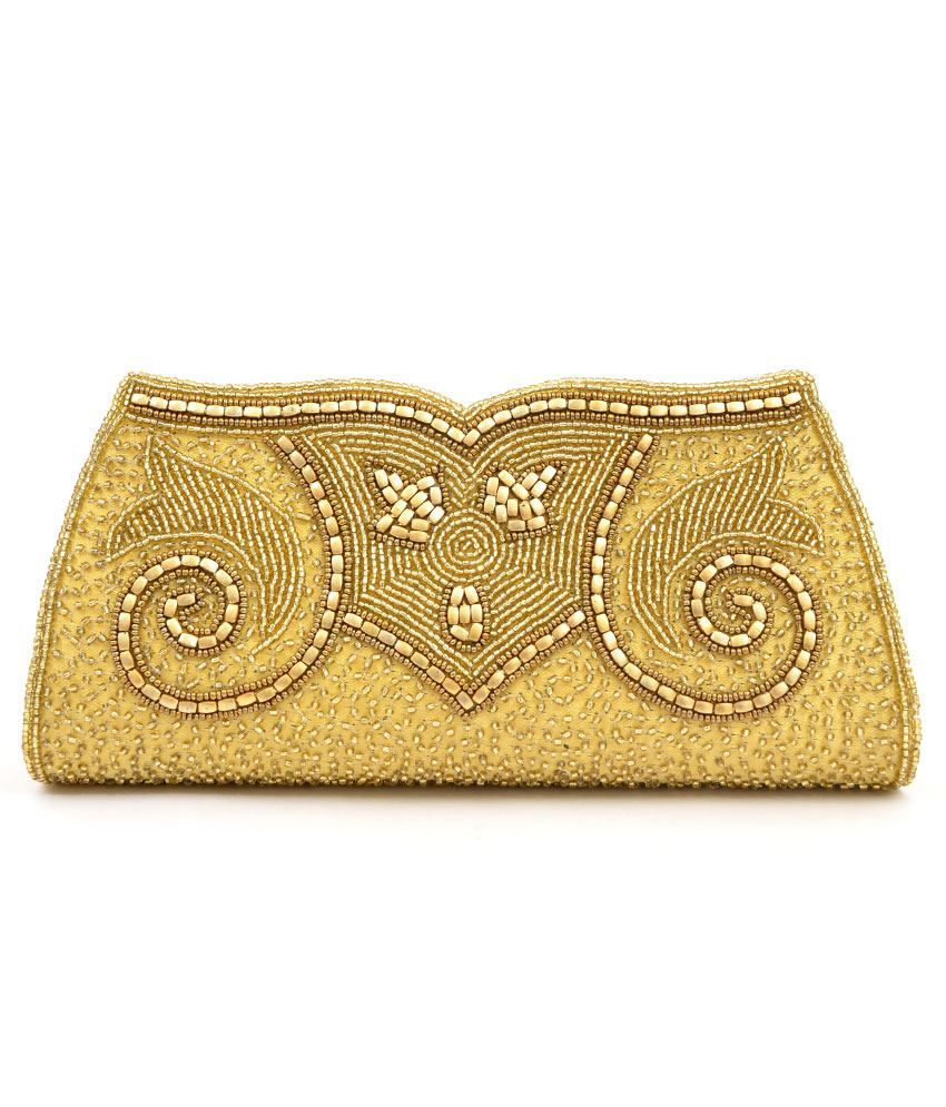 Fashion Mark Gold Magnit Button Clutch