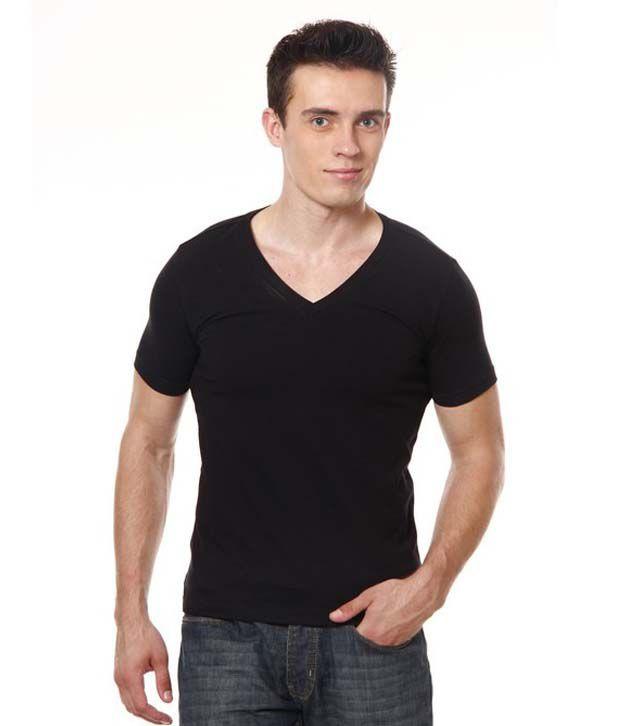 Neo Black Cotton Basics T-Shirt
