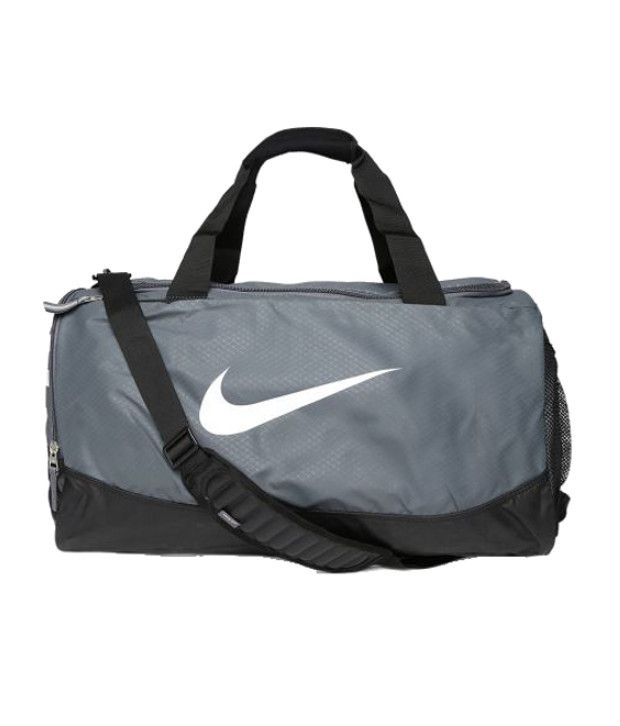 Nike Team Training Max Air Medium Duffle Bag Gray Duffle Bag ...