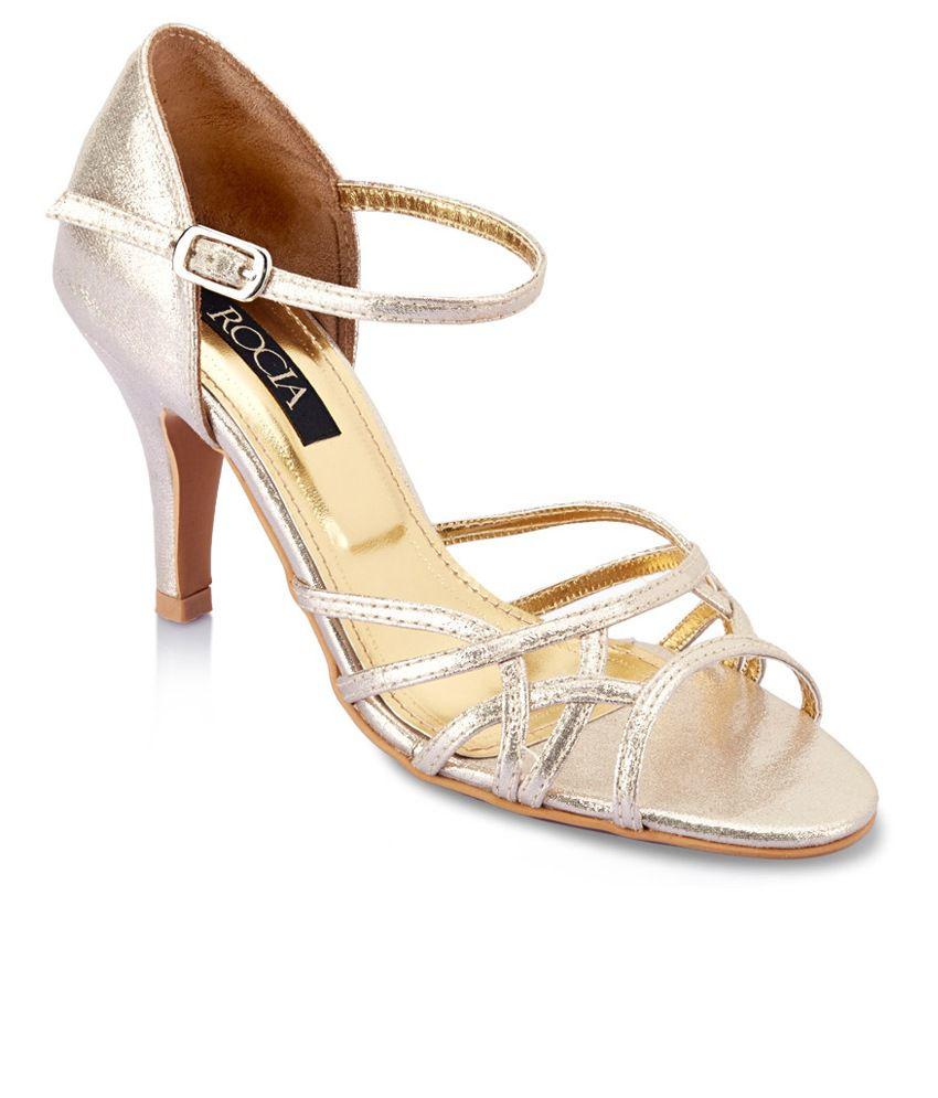 Rocia Gold Heeled Sandals