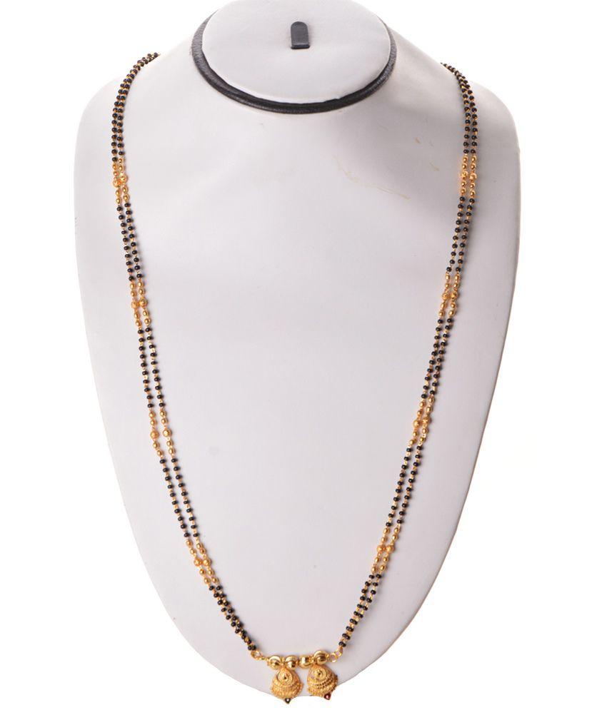 4f5549568df00 Zakasdeals Golden Long Mangalsutra: Buy Zakasdeals Golden Long ...
