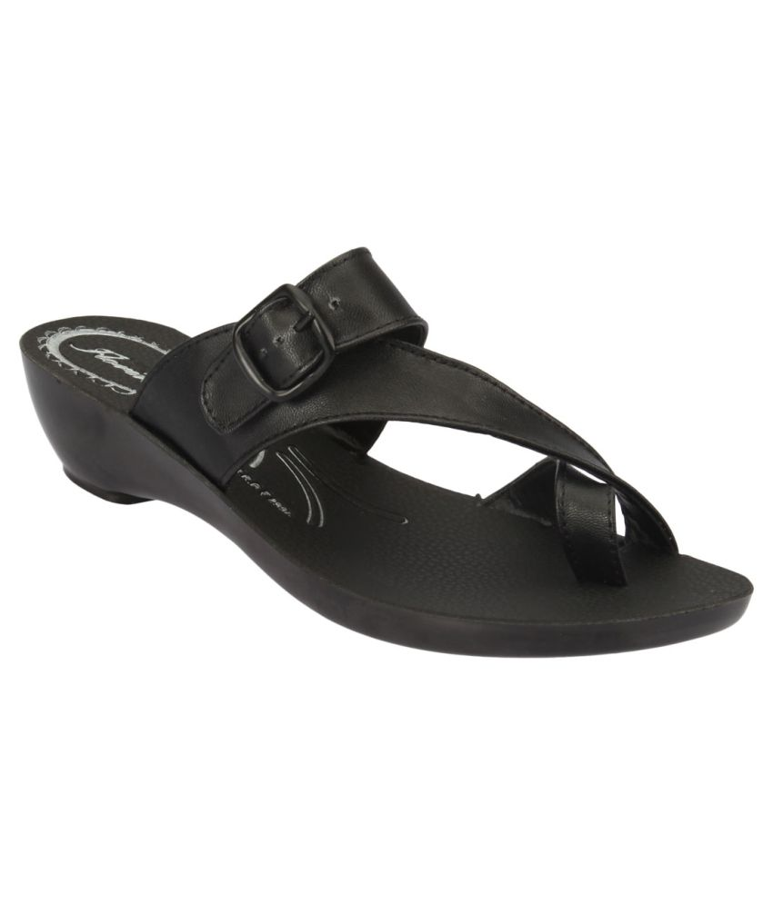 Action Florina Black Slippers For Women