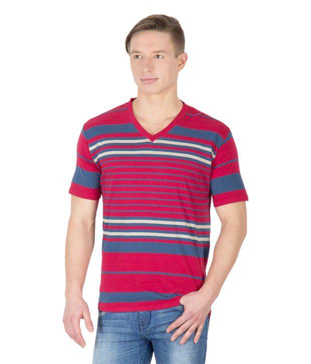 Hypernation Red Cotton T-shirt