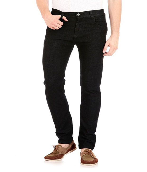 Jovial Mart Black Cotton Denim Jeans