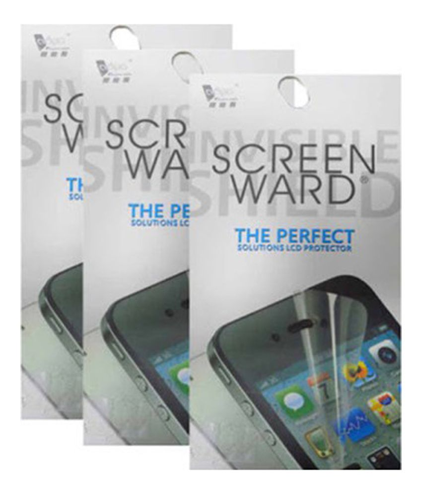Screenward Clear Screen Guard for Htc Butteryfly X920 - Pack of 3