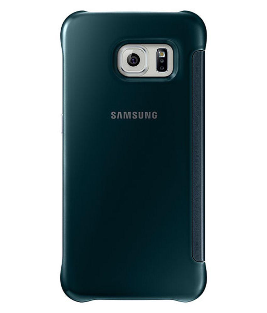 official photos 5a92e acb8a Samsung Clear View Cover For Samsung Galaxy S6 Edge - Green - Flip ...