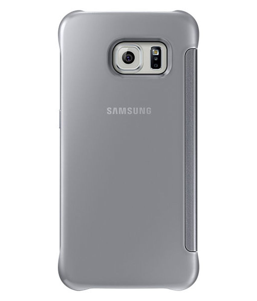 newest 672fe 4f784 Samsung Clear View Cover For Samsung Galaxy S6 Edge - Silver