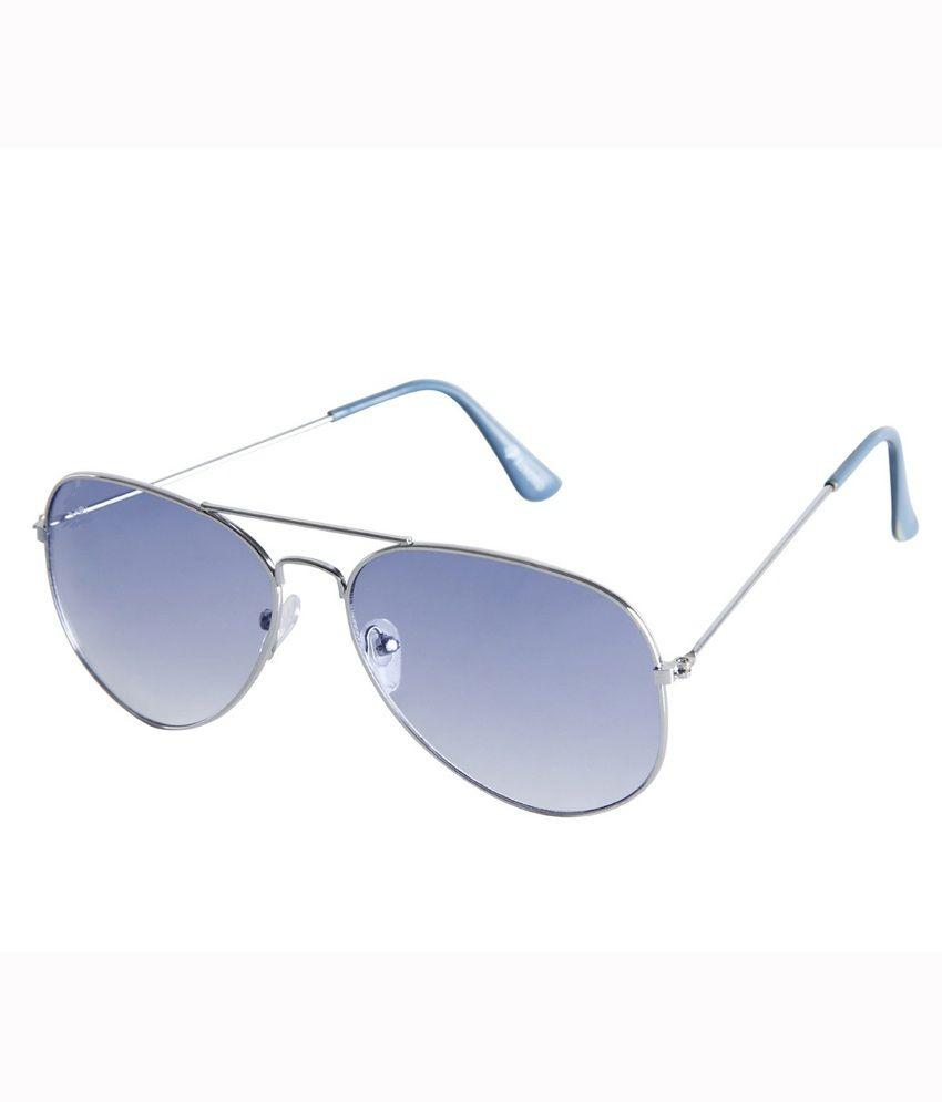 Affaires Silver-Blue A-296 Aviator Sunglasses