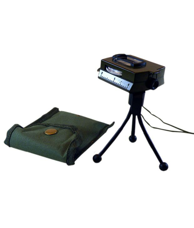 J M Prismatic Magnetic Weslinger Metal Lens Lensatic Compass Military With Stand - Model Art