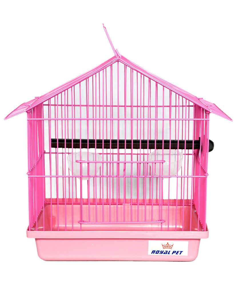 Petsplanet Pink Imported Foldable Cage for Budgerigar & Finches