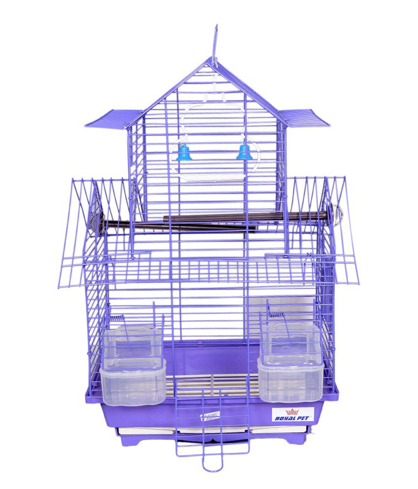 Petsplanet Purple Imported Foldable Cage for Budgerigar & Finches