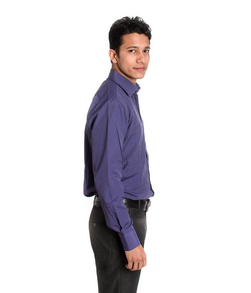 Tag & Trend Slim Fit Formal Shirt Lavender Violet Color for Men ...