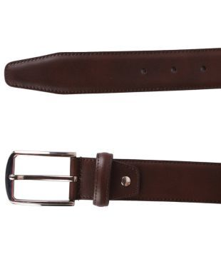 Austin Reed By Shoppers Stop Brown Formal Men Leather Belt Buy Online At Low Price In India Snapdeal