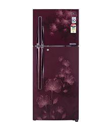 LG 310 LTR 3 Star GL-D322JSFL Frost Free Refrigerator - Scarlet florid
